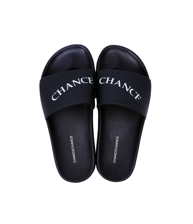 CHANCECHANCE LOGO Slippers(Black)