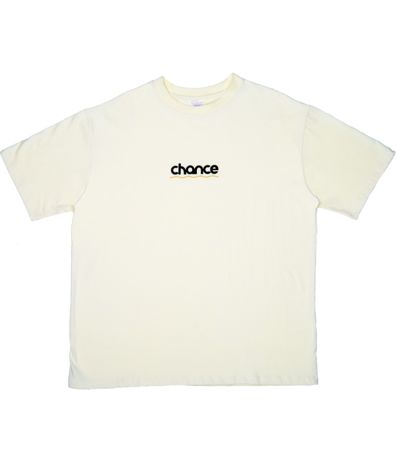 CHANCE WAVE T-SHIRT(IVORY)