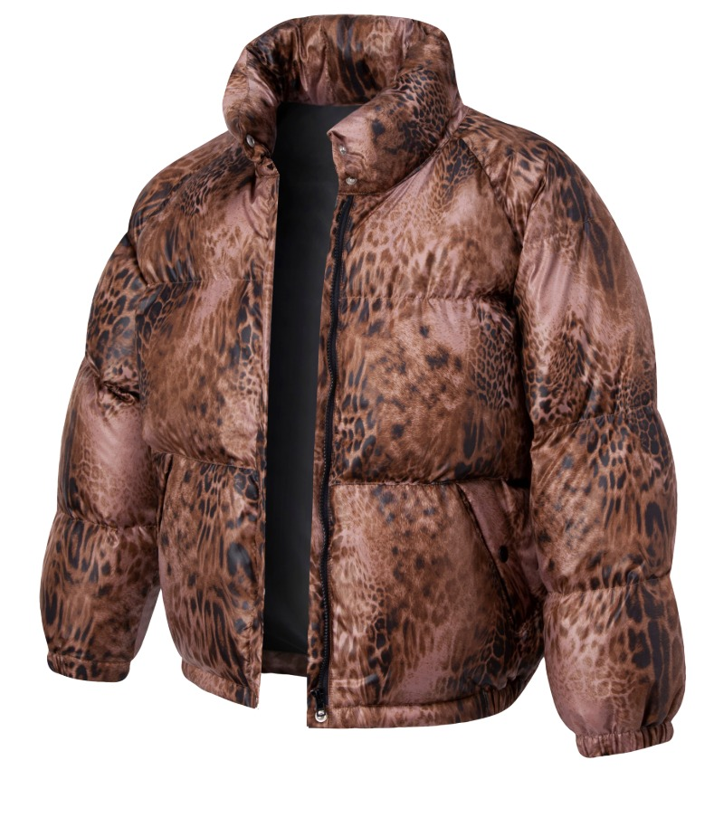 CHANCECHANCE DOWN PARKA(BROWN LEOPARD)