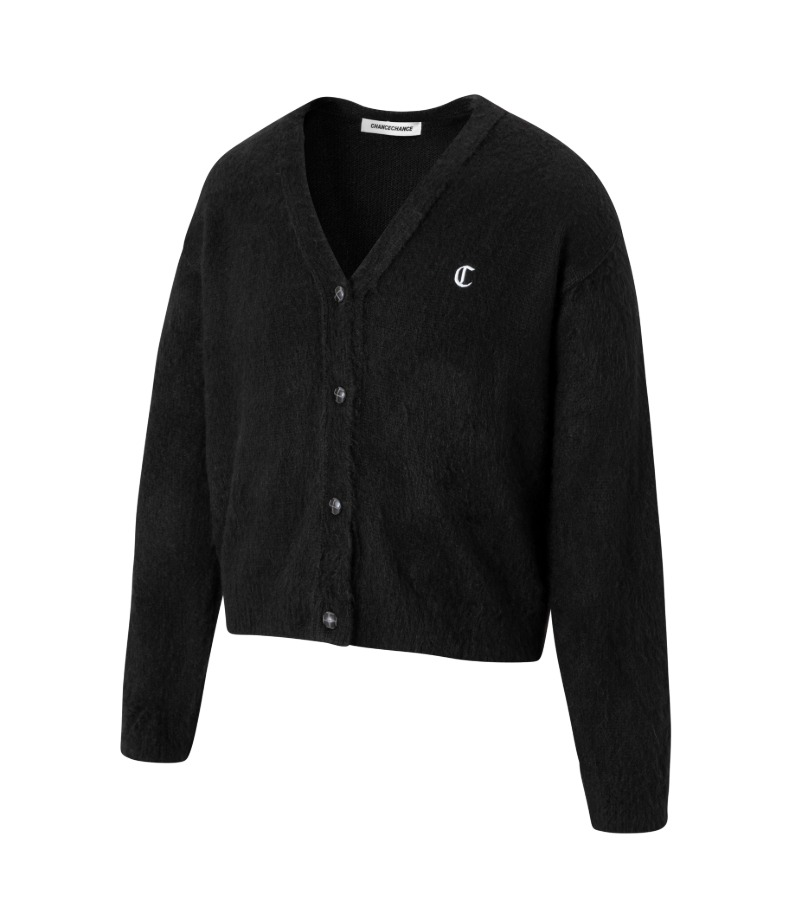 LOGO CARDIGAN(BLACK)