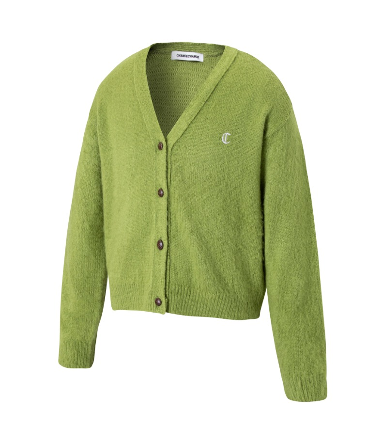 LOGO CARDIGAN(GREEN)