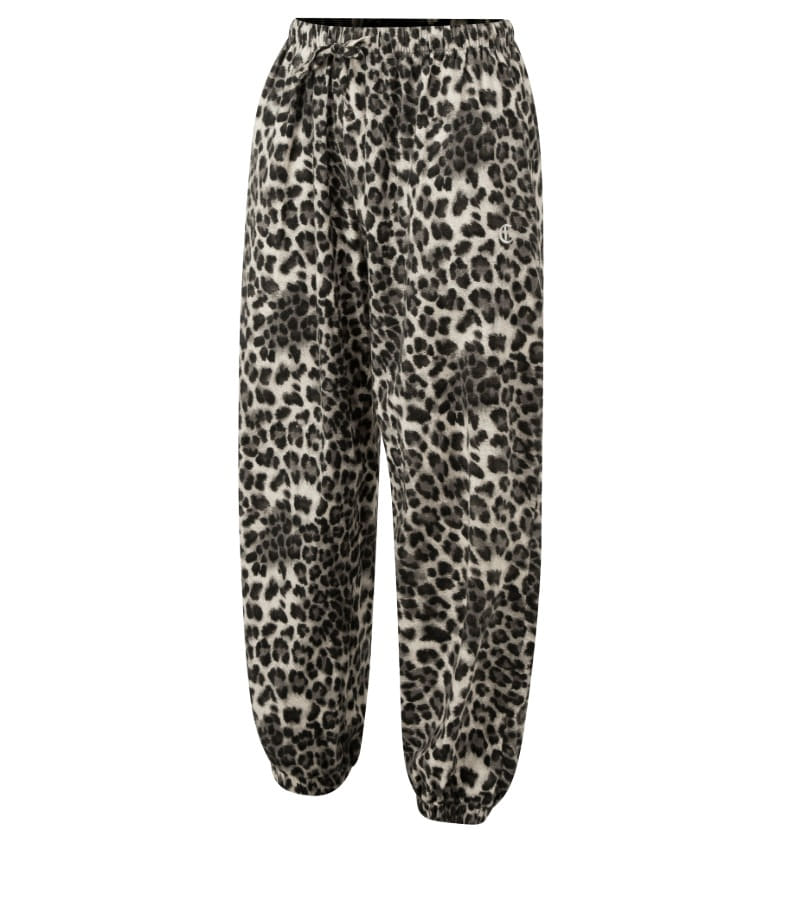 BLACK LEOPARD LOUNGE PANTS